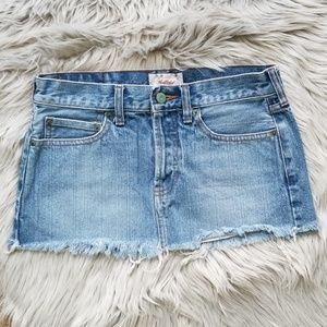Hollister 3 button up jean skirt- Size 1